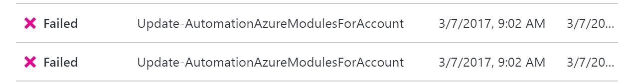 AzureAutomation-UpdateModule-ErrorMessage