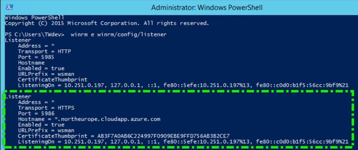 VSTS AzureDevTestLab WinRM Https Listner