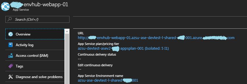 Azure App Service on ASEv2 ASP