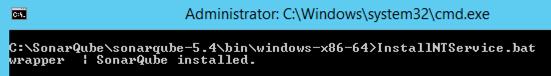 SonarQube Install as Windows Service