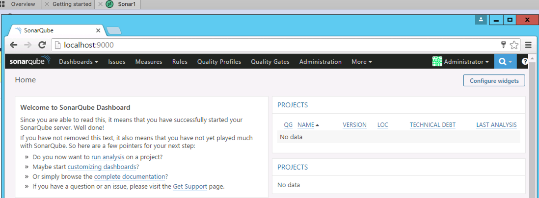SonarQube Start Windows Service