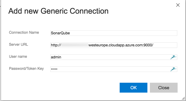 VSTS Add SonarQube as a Generic Connection