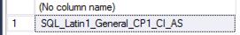 SQL Server database collation