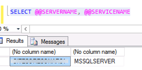 SQL Server Instance and Service Name