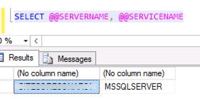 SQL Server Instance and Service Name