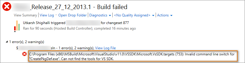 Visual Studio Geeks | How to fix build error Invalid command
