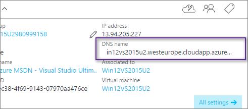 WinRM DNS Name