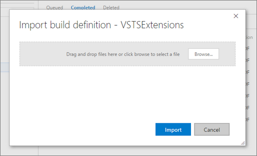 Visual Studio Geeks | Export and Import your build definitions in