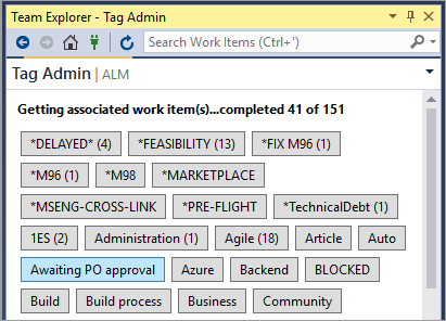 Tag Admin for Visual Studio 2017